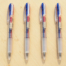 48 pcs/Lot Red Blue color pens for writing marker 0.5mm ballpoint pen Stationery Office school supplies Material escolar FB752
