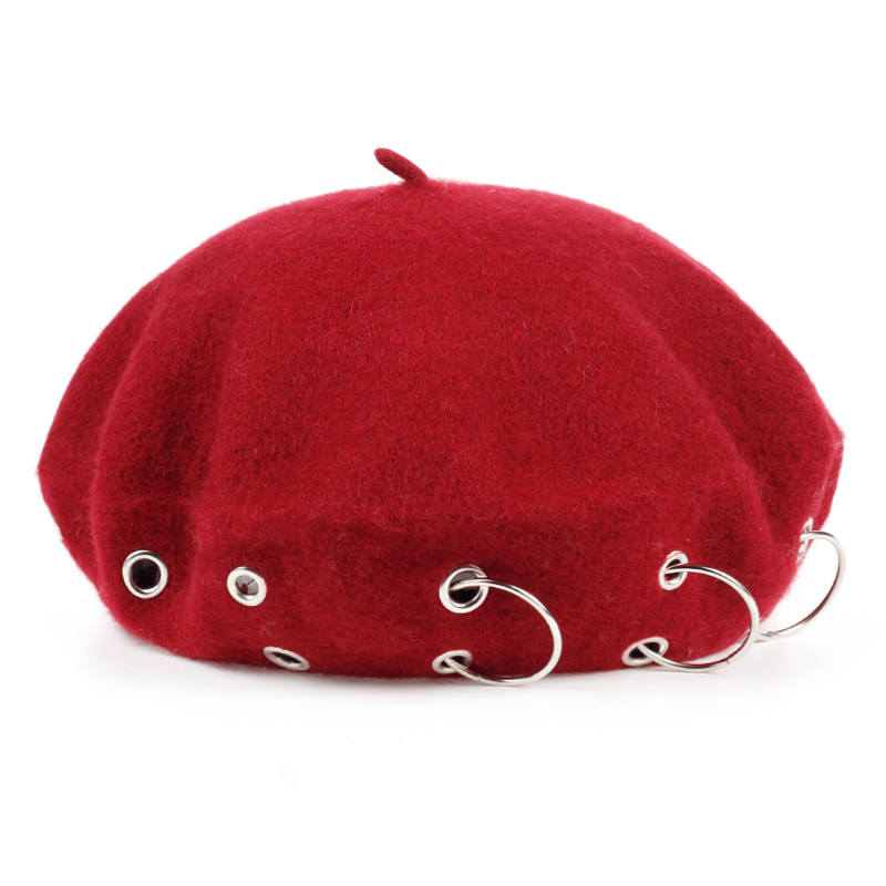 chapeau d'hiver bérets rock style