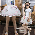 New  Tutu Skirts Flowers Girls Tulle Skirt High Qulity  Pettiskirts Kids Tutu Skirt  Tule Rokje Meisjes Tutu Skirt 6SK046