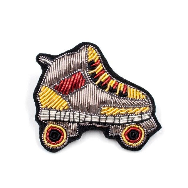 Вышивка Индии Шелковый pin на патч роликовых коньков брошь значок патчи для одежды parches termoadhesivos Para RoPa для одежды