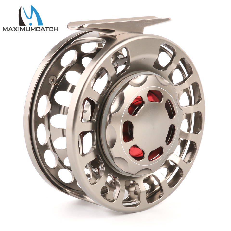Maximumcatch 3-10WT Fishing Fly Reel CNC Machined Aluminum Silver/Black fly Fishing Reel aluminum alloy fly fishing reel silver 0 30mm 200m