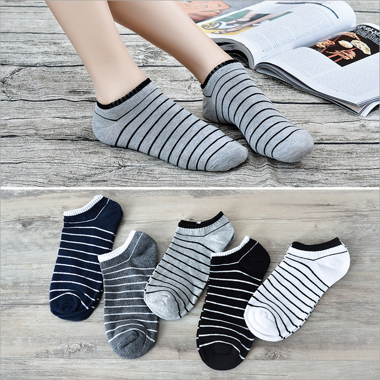 2019 New High Quality 1Pair Unisex Comfortable Dot Cotton Socks Woman Slippers Short Ankle Socks In 5 Colour