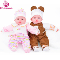 UCanaan Reborn Baby Dolls Cotton Soft Body New Reborn Babies Handmade Doll Toys Play House Baby