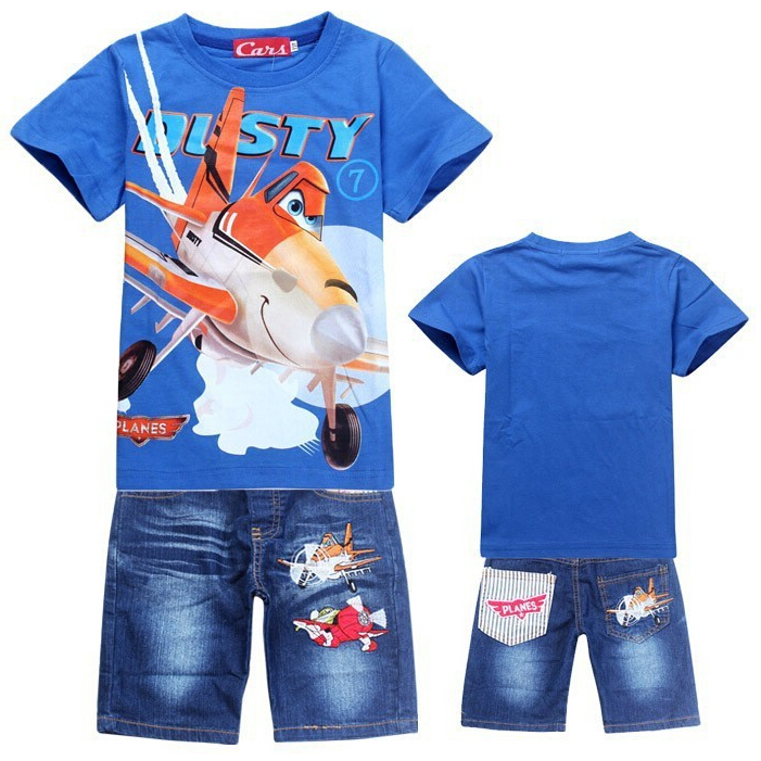 CNJiaYun Plane Boys Clothing Set Cartoon DUSTY PLANE Kids Clothing Sets For Boys Summer T-Shirt Pants Children Clothing Set