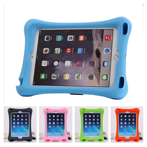 Durable Kids Safe Shockproof Loud Speaker Soft Thick Foam Stand EVA Silicone Case Cover For Apple ipad Air For ipad Air 2 ShellDurable Kids Safe Shockproof Loud Speaker Soft Thick Foam Stand EVA Silicone Case Cover For Apple ipad Air For ipad Air 2 Shell