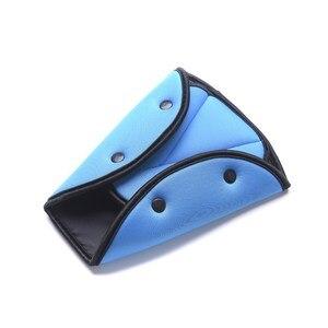 Image 5 - Triângulo de Segurança Do Carro Cinto De Segurança Cinto de segurança Ajustável Resistente Durável Clips Almofada de Proteção À Criança Do Bebê Car Styling Carro Interiores