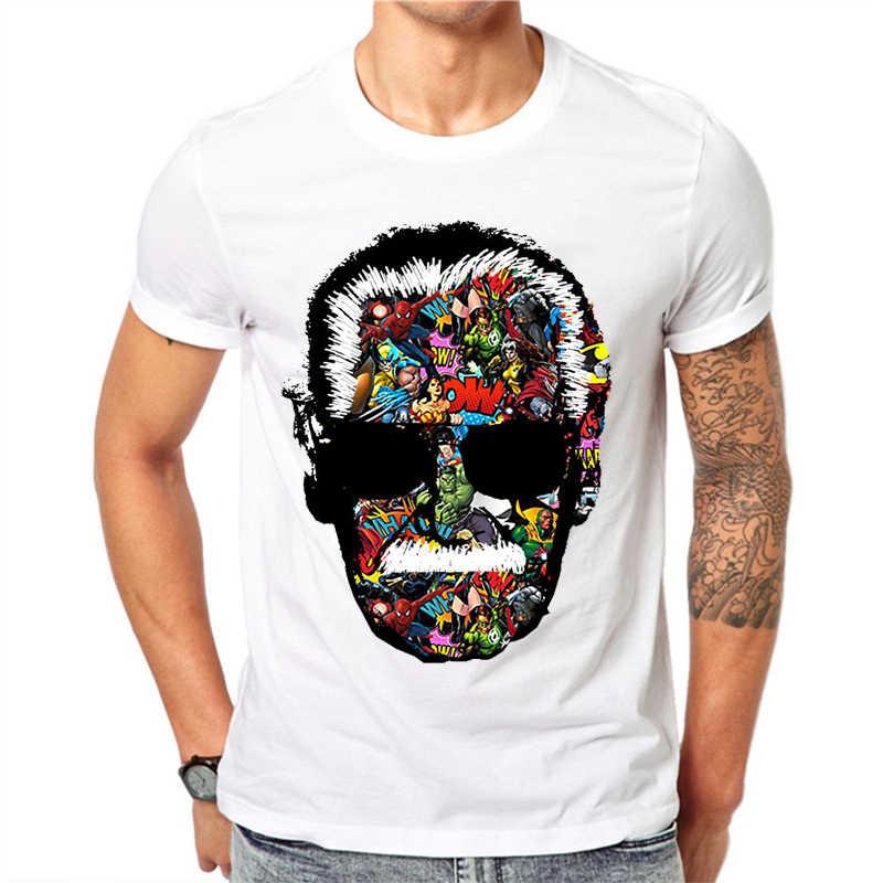 1718ec72b5 Detail Feedback Questions about Stan Lee T Shirt Men Short Sleeve O Neck  Harajuku Tshirt Classic Print Boy Marvel Comics Superhero T Shirt Camisetas  Hombre ...