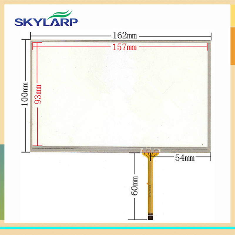 skylarpu New 7 inch for 162*100mm touch screen 162mm*100mm car DVD navigation digitizer panel glass Free shipping