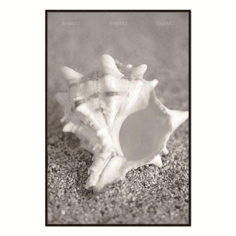 conch strand nordic abstrakte natur wand bilder wohnzimmer kunst dekoration bilder skandinavischen leinwand malerei kein rahmen - Natur Wand Im Wohnzimmer