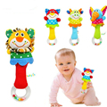 Animal hand bar bell and baby teethers rattles baby plush toy and hand bell baby toys WJ093