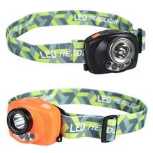 NEW 1000 Lumens Headlamp CREE LED Head Light Lamp with Induction Function and Caution Red Light For 3xAAA