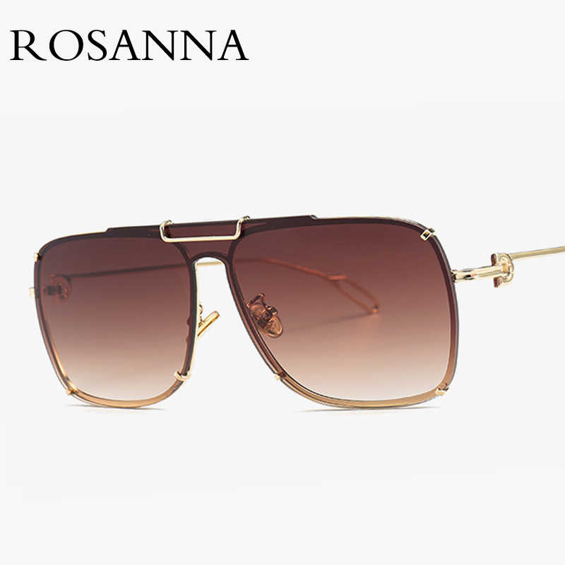 5dd0a871c04 Unisex Rimless Pilot Sunglasses Men Vintage Brand Designer Metal Big Frame  Sun glasses for Women Vintage