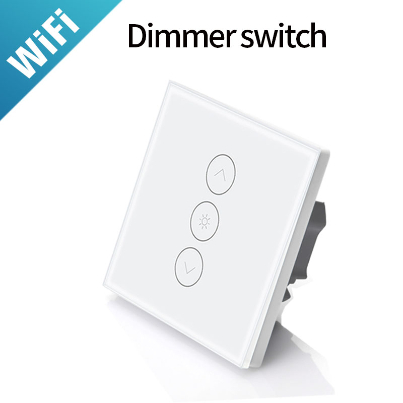 Voice Control EU  Standard WiFi  Touch Dimmer Switch Smartphone APP Remote Control Work With Alexa And Google Home For LED Lamps