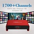 S912 Amlogic 2 GB 16 GB Android 6.0 TV Box Kodi 16.1 a Plena Carga Wifi de Banda Dual 4 K Smart Set Top Box con IPTV Libre de Europa árabe