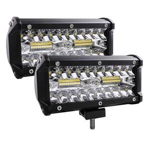 7 Inch 120W Combo Led Light Bars Spot Flood Beam 4x4 Spot 12V 24V 4WD Barra LED Headlight For Auto Boats SUV ATV iLight.(China)