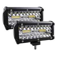 7 pollici 120W Combo Ha Condotto La Luce Bar Spot Flood Fascio di Punto 4x4 12V 24V 4WD barra LED Del Faro Per Auto Barche SUV ATV iLight.