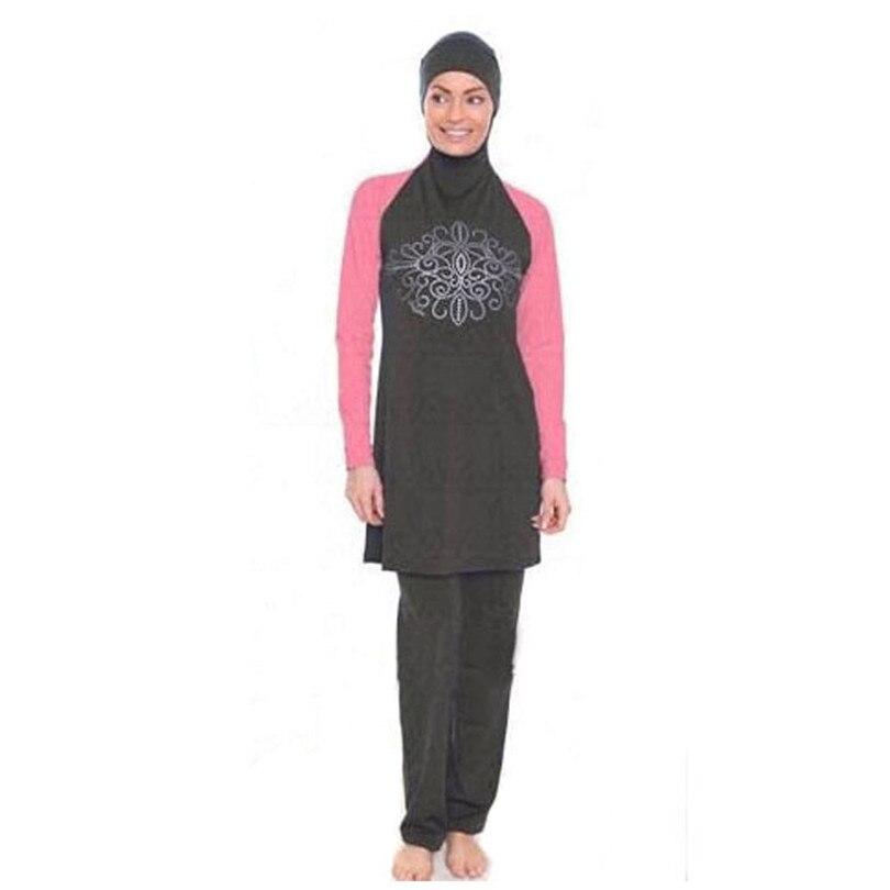 Hot Full Swimming Suit Modest Islamic Swimwear Maillot De Bain Hijab Muslim Swim Suits Arabic Full Coverage Swimwear For Women