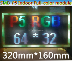Image 3 - 2019 NEW P5 SMD 3 in 1 RGB Full color Module,Indoor Full color LED Display,P5 RGB LED Panel,320x160mm 64 * 32pixels