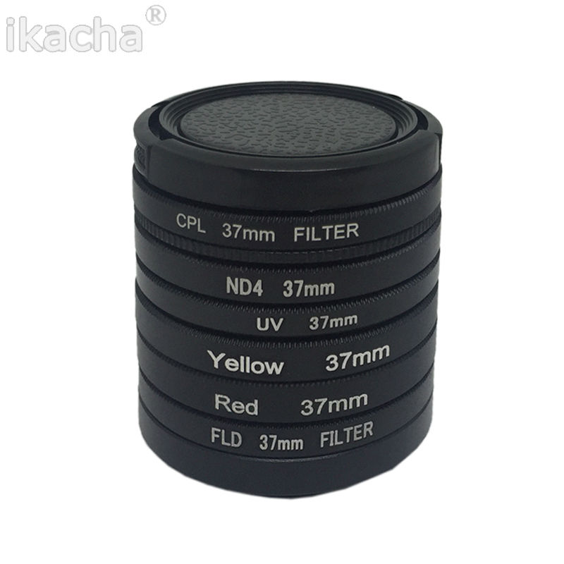 7 in 1 Camera Filter 37mm CPL FLD UV ND4 Red Yellow Sea Diving Filter + Ring + Lens Cap For Gopro Hero 6 5 4 3+ 3 1
