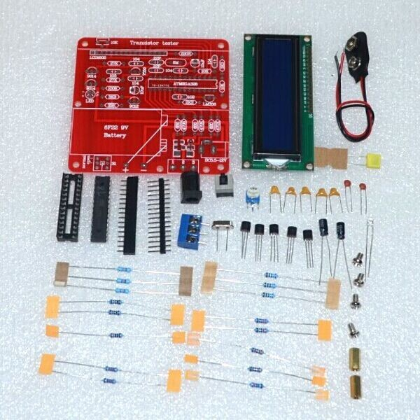 DIY KIT Новинка 2014 года Транзистор тестер Конденсатор СОЭ индуктивность резистор метр pnp-npn-транзисторов Mosfet (с нашими батареи)