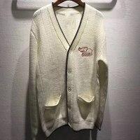 Женский шерстяной свитер 2019 модный длинный рукав v образный вырез дамские высококачественные кардиганы для Удлиненный свитер