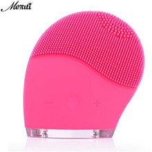Electric Face Cleanser Vibrate Waterproof Silicone Cleansing Brush Massager Facial Vibration Skin Care Spa Massa EU/ US/ UK Plug