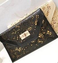 ГОРЯЧАЯ Новое прибытие вырез конверт женщин сцепления винтаж сумка почтальона сумочки цепи красочные сумки на ремне сумки Женщин JC0060