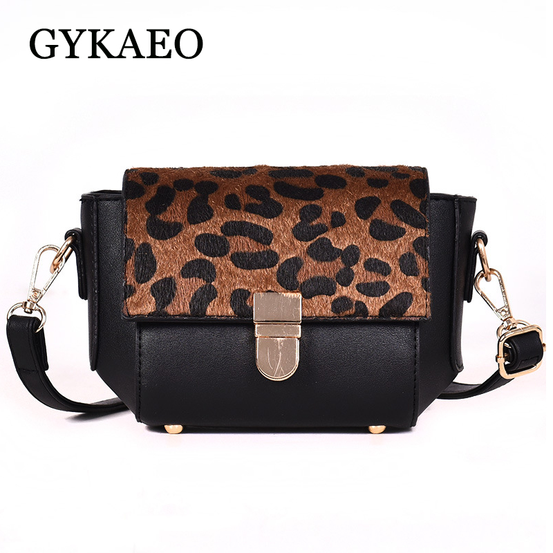 GYKAEO Ladies Leopard Evening Clutch Bags 2018 Winter Small Korean Style Shoulder Bags for Women Casual Shopping Messenger Bag 1