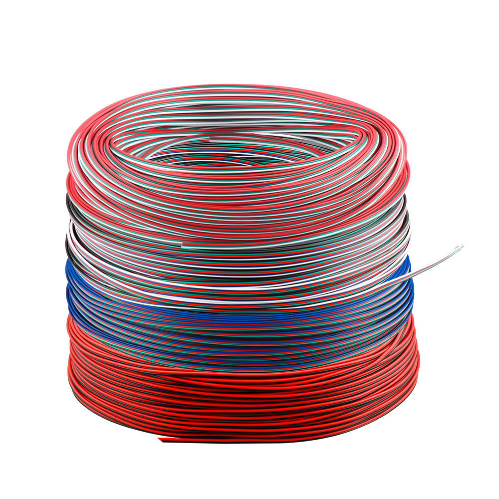 2pin 3pin 4Pin 5pin 22 AWG Electrical Wire Tinned Copper Insulated PVC Extension LED Connector Wire Cable 1m/5m/10m