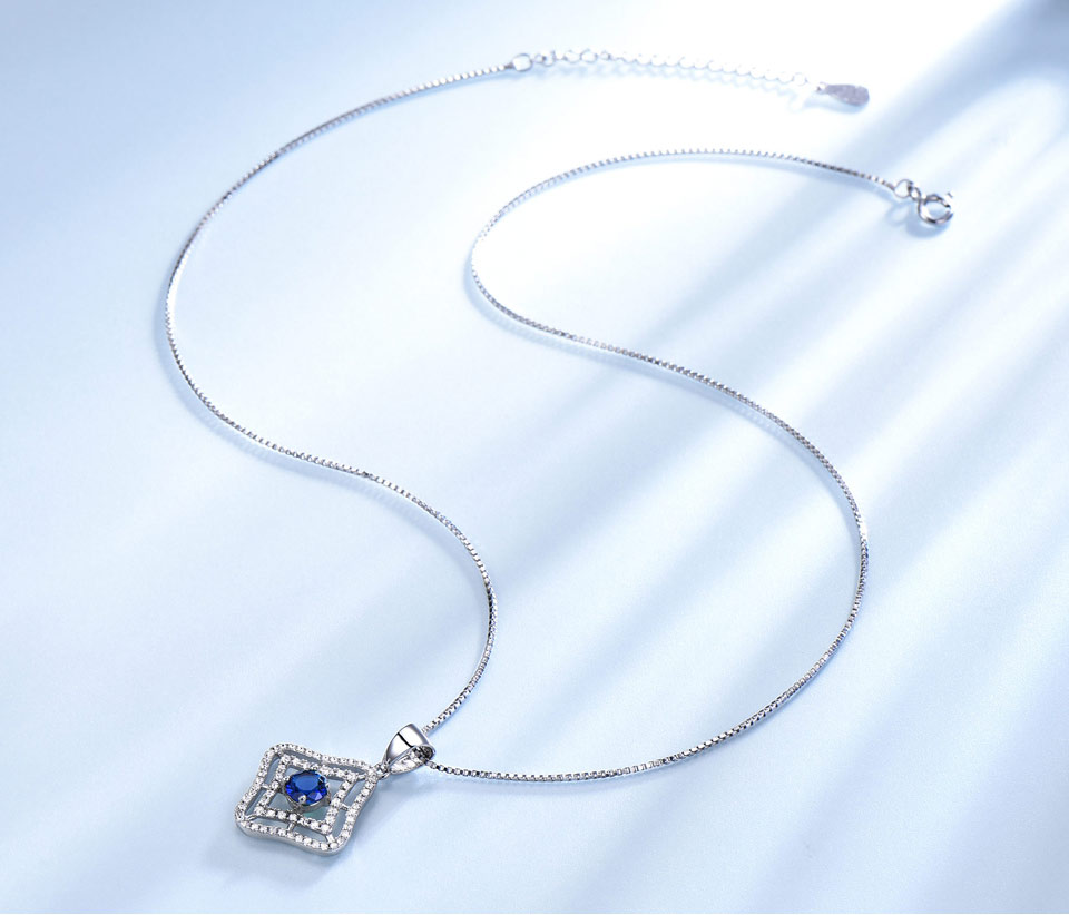 Honyy Sapphire 925 sterling silver jewelry set for women S023S-1 (3)