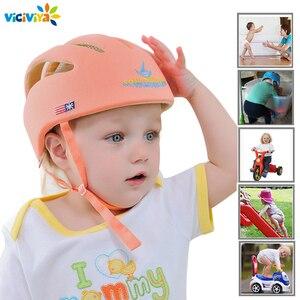 Image 1 - Bebê capacete de proteção de segurança capacete para bebês menina algodão infantil proteção chapéus crianças boné para meninos meninas infantil