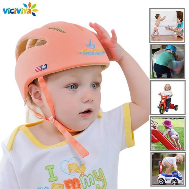 ベビーヘルメット安全保護ヘルメット赤ちゃんの女の子綿幼児保護帽子子供キャップ少年少女のためのcapacete infantil