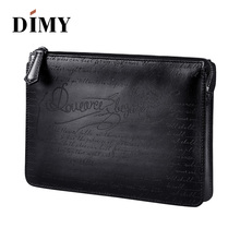 DIMY 2018 Winter Newest Mens Genuine Leather Bags Handbags Vintage Envelope Clutch Large Capacity Business A4