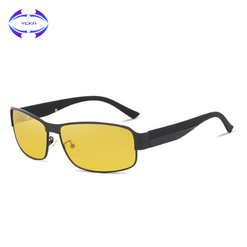 VCKA Yellow Polarized Sunglasses Men Women Night Vision Goggles Driving Driver pilot Polaroid Sun Glasses UV400 Eyewear