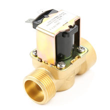 Brass Electric Water Valve DN20 G3/4 Normal Closed Pilot-operated Water Inlet DC 12V Electric Solenoid Valve Hot Sale(China)