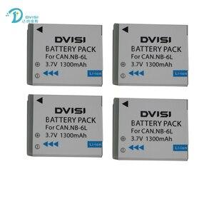 Image 5 - DVISI 3.7V 1.3Ah NB 6L NB6LH Li Ion Batteria Per Canon Power shot SX520 HS SX530 SX600 SX610 SX700 SX710 IXUS 85 95 200 210 105