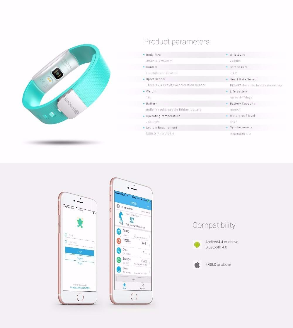 Original iWown i6Pro Smart Band PMOLED Display Heart Rate Monitor Smart WristBand Bracelet Waterproof Android Fitness Tracker 22