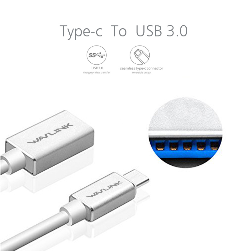 USB Type C Cable Mini Smart USB 3.1 Type C Male to USB 3.0 Type A Female OTG Data Connector Cable Adapter Superspeed Wavlink