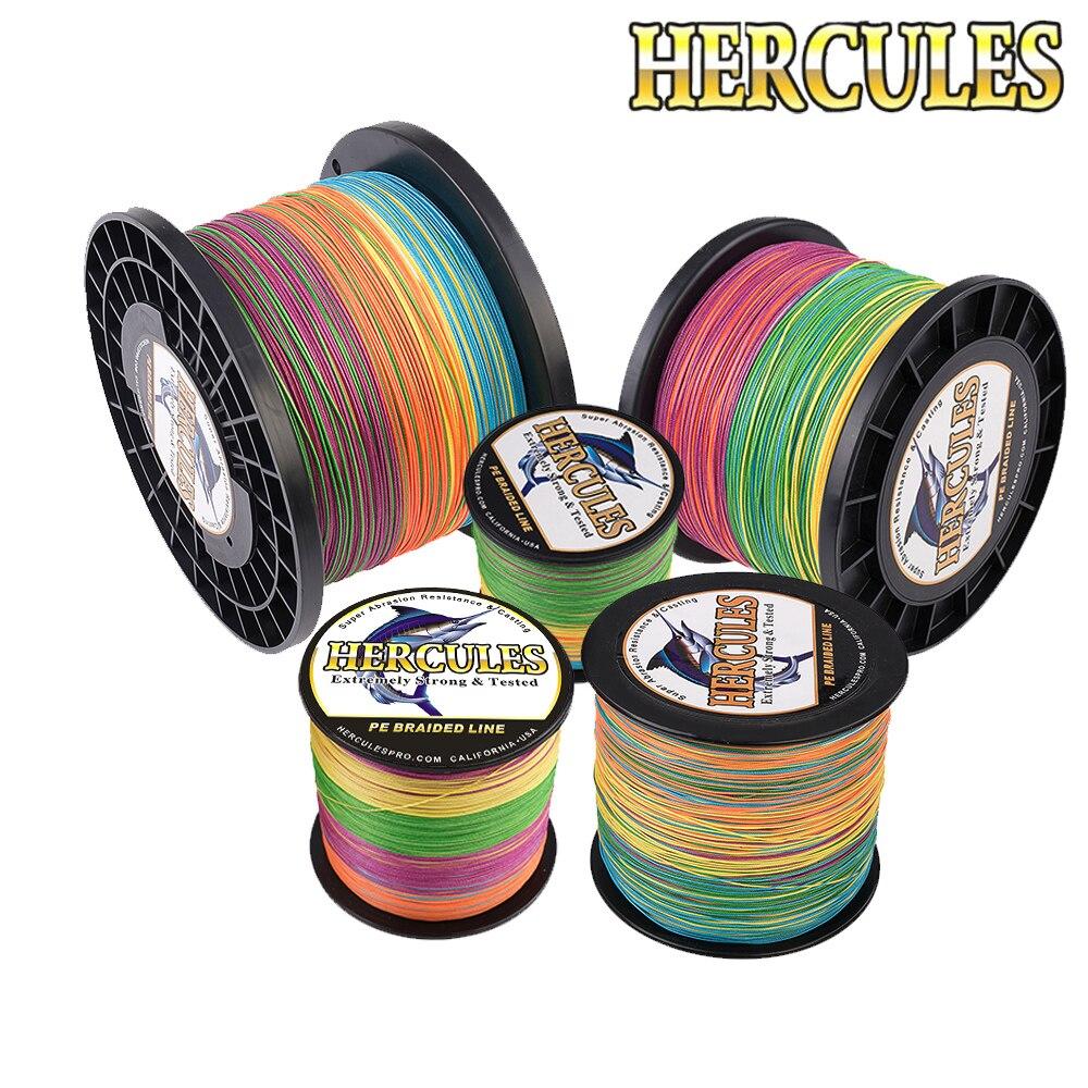 Hercules Braided Fishing Line 8 Strands Multicolor 100M 300M 500M 1000M 1500M 2000M Sea Fishing Cord Linha Multifilamento 8 Fio