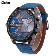 Oulm Men 2 – movt Quartz Watch with Big Dial Leather Watchband