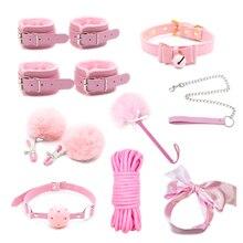 高品質の大人のおもちゃ女性緊縛セックスボンデージ手錠乳首クランプギャグ鞭ロープ大人のゲームセックス製品カップルのための