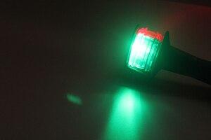 Image 5 - 12 V Marine เรือไฟ LED นำทางสีแดงสีเขียว Bi   สี 360 องศารอบสัญญาณ 124 มม.