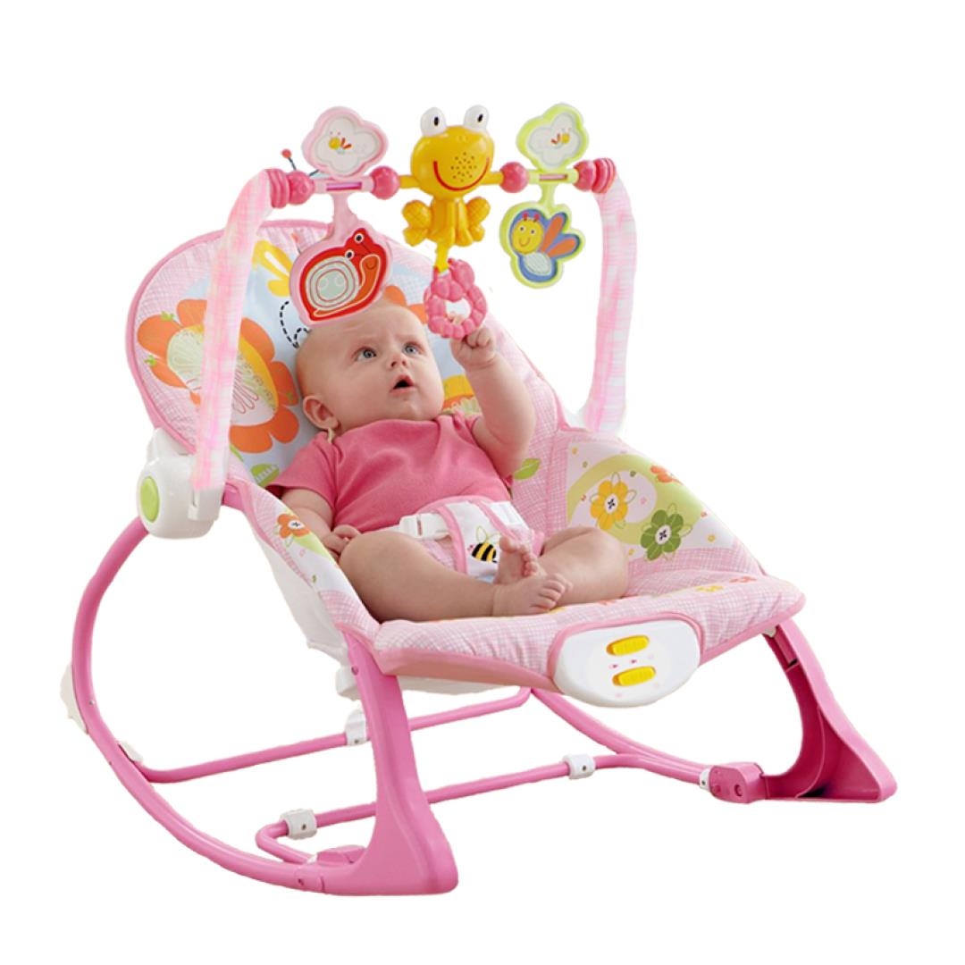 Baby Chair Swing Pink Teal Dining Chairs Free Shipping Electric Rocking Cradle Shaking