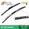 """1 set Wiper blades For KIA Sorento (2011-2014), 20""""+24"""",car wiper,3 Section Rubber, windscreen wiper, Car accessory"""