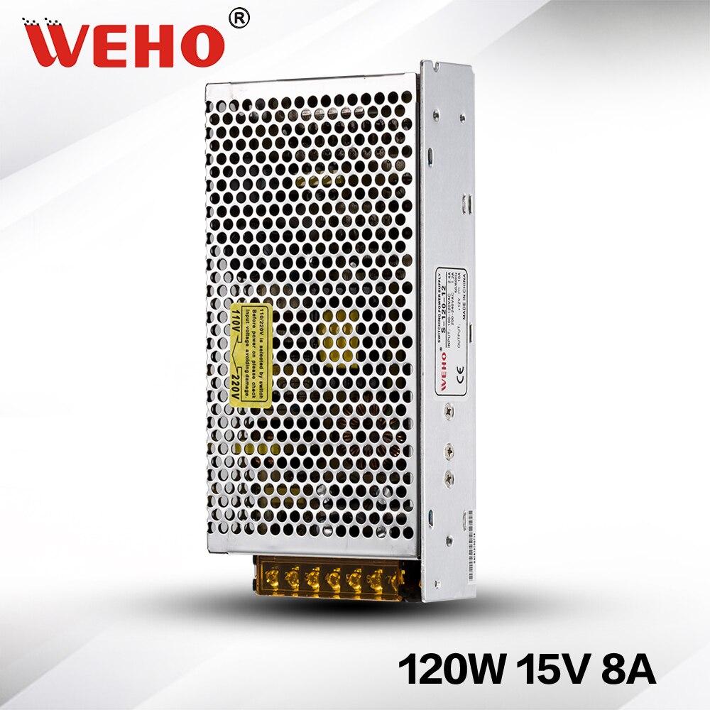 ⑦(S-120-15) marco abierto de interior 120 W 15 V alimentación ...