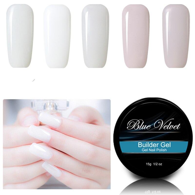 UV LED Builder Gel Blue Velvet 15g Soak Off Nail Gel For Extending ...