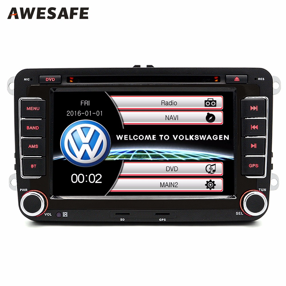 7 inch font b Car b font GPS DVD 2 din radio player For VW Volkswagen