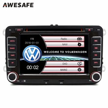 7 pulgadas Del GPS Del Coche DVD 2 din reproductor de radio Para VW/Volkswagen Passat/GOLF/Skoda/asiento audio gps doble din pantalla táctil de coches stereo
