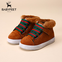 2017 Brand Designer New Warm Suede Sport Children Ankle Boots Kids Girls Winter Casual Shoes Infant