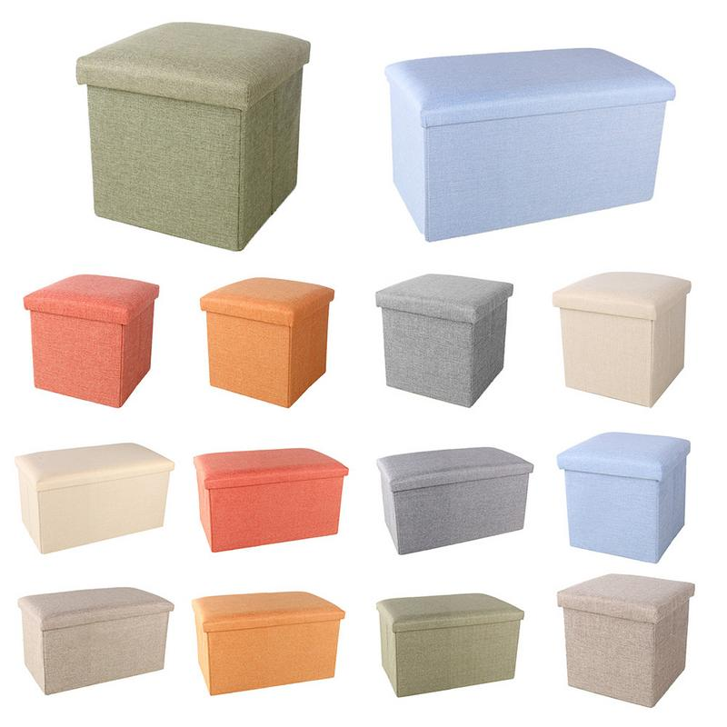 Brilliant Us 22 39 35 Off Simple Cotton Linen Storage Folding Finishing Bench Multi Functional With Cover Storage Stool Shoes Stool Locker In Storage Boxes Caraccident5 Cool Chair Designs And Ideas Caraccident5Info